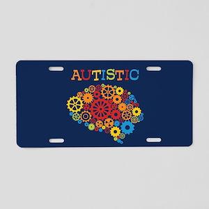 Autistic Brain Aluminum License Plate