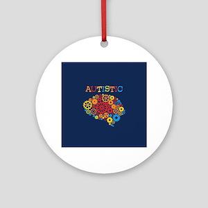 Autistic Brain Round Ornament