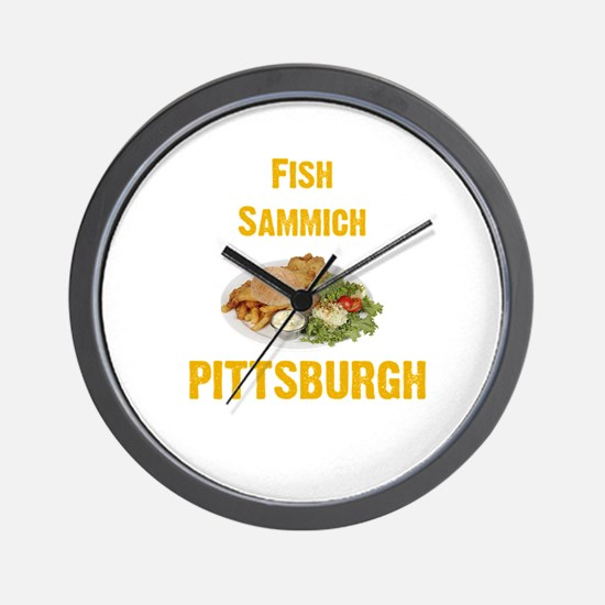 Fish sammich Wall Clock