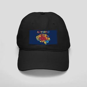 Autistic Brain Black Cap with Patch