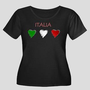 Italia Hearts Plus Size T-Shirt