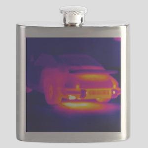 Porsche car, thermogram Flask