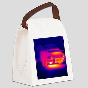 Porsche car, thermogram Canvas Lunch Bag