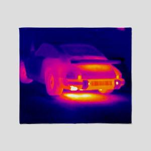 Porsche car, thermogram Throw Blanket
