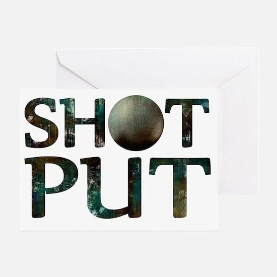 Shot Put Greeting Card