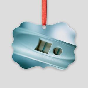 Positive pregnancy test Picture Ornament