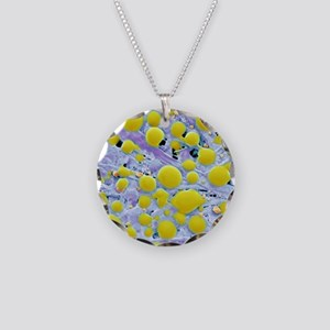 Post-it note adhesive, SEM Necklace Circle Charm