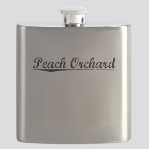 Peach Orchard, Vintage Flask