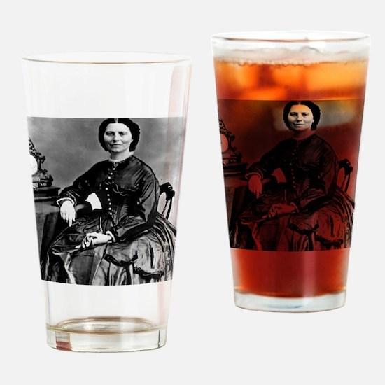 Portrait of Clara Barton Drinking Glass