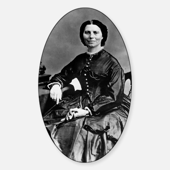 Portrait of Clara Barton Sticker (Oval)