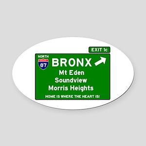 I95 INTERSTATE EXIT SIGN - BRONX - Oval Car Magnet