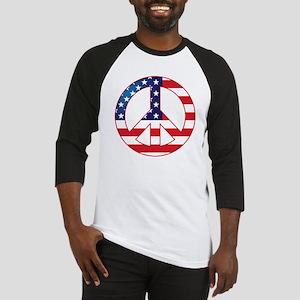 American Flag Peace Sign Baseball Jersey