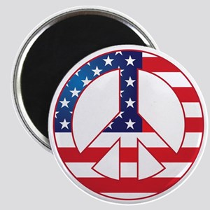 American Flag Peace Sign Magnet