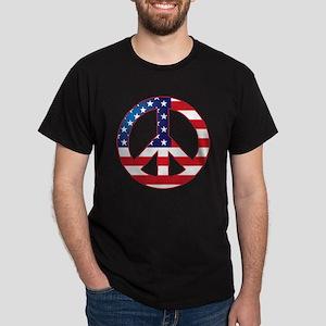 American Flag Peace Sign Dark T-Shirt