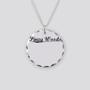Piney Woods, Vintage Necklace Circle Charm
