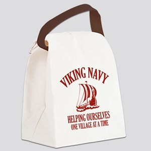vikingNavy1D Canvas Lunch Bag