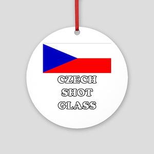 Czech Shot Glass Round Ornament