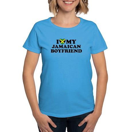 I Love My Jamaican Boyfriend Women's Dark T-Shirt