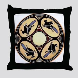MIMBRES FOUR GRASSHOPPERS BOWL DESIGN Throw Pillow