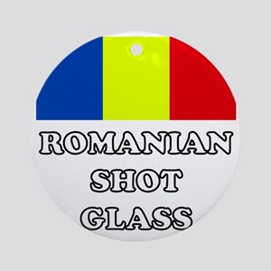 Romanian Shot Glass Round Ornament