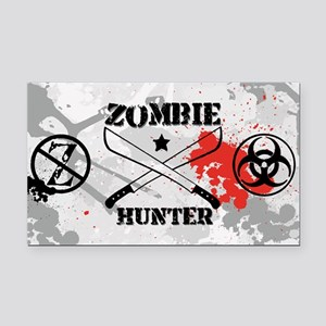 Zombie Hunter Rectangle Car Magnet