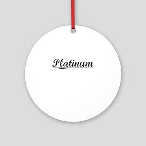 Platinum, Vintage Round Ornament