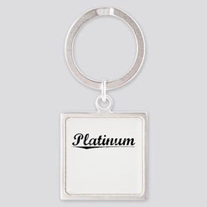 Platinum, Vintage Square Keychain