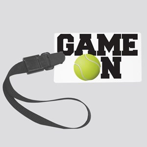 Game On Tennis Large Luggage Tag