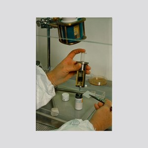 Preparing isotope injection for g Rectangle Magnet