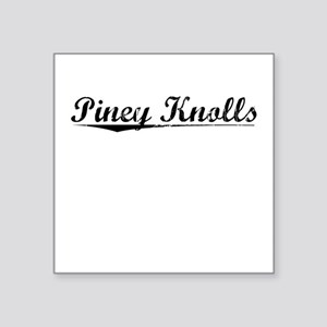 "Piney Knolls, Vintage Square Sticker 3"" x 3"""