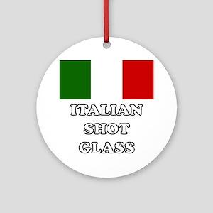 Italian Shot Glass Round Ornament