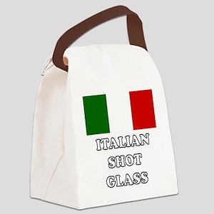 Italian Shot Glass Canvas Lunch Bag
