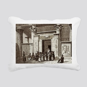 Pythagoras and Egyptian  Rectangular Canvas Pillow