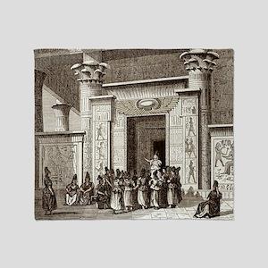 Pythagoras and Egyptian priests Throw Blanket