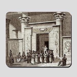 Pythagoras and Egyptian priests Mousepad