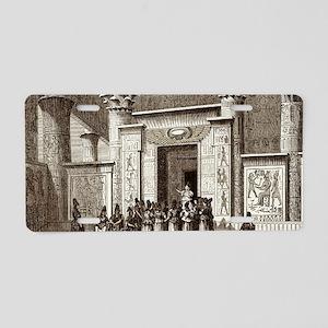 Pythagoras and Egyptian pri Aluminum License Plate