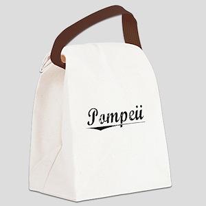 Pompeii, Vintage Canvas Lunch Bag