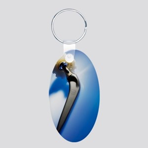Prosthetic hip (artificial  Aluminum Oval Keychain