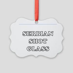 Serbian Shot Glass Picture Ornament