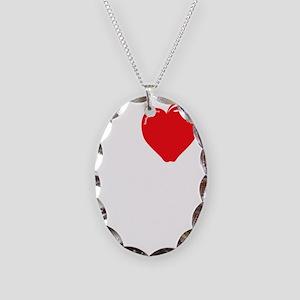 I Love My Daycare - On Dark Necklace Oval Charm