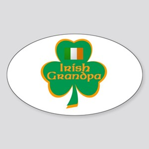 Irish Grandpa Oval Sticker