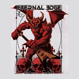 Eternal Edge-Rock N Roll Devils Throw Blanket