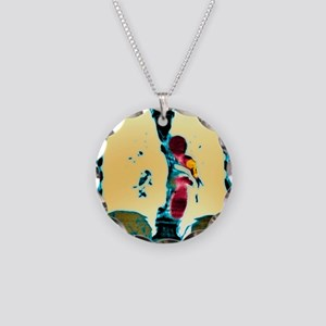 Pulmonary embolism, CT scan Necklace Circle Charm