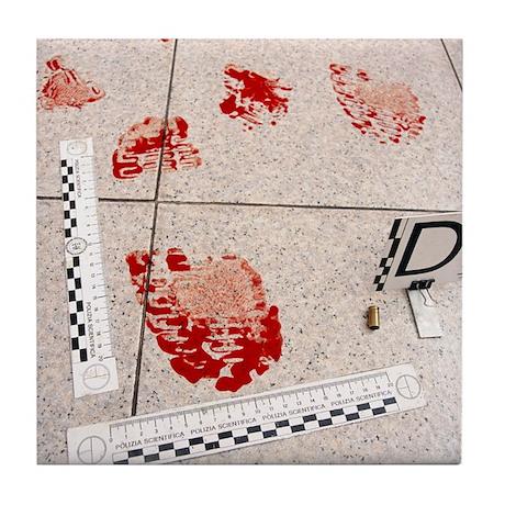 Recording evidence Tile Coaster