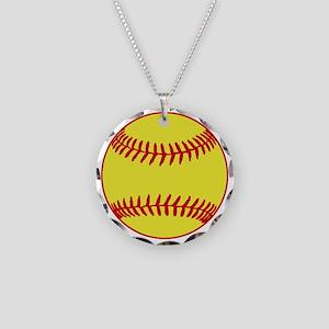 Sofball Necklace Circle Charm