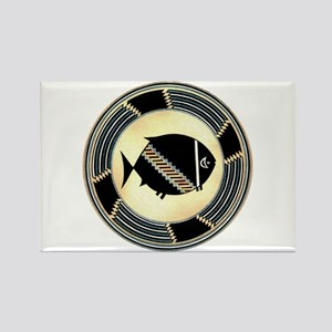 MIMBRES SPINNING FISH BOWL DESIGN Rectangle Magnet