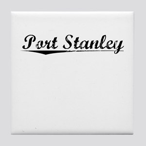 Port Stanley, Vintage Tile Coaster