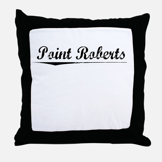 Point Roberts, Vintage Throw Pillow
