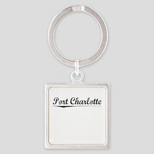 Port Charlotte, Vintage Square Keychain