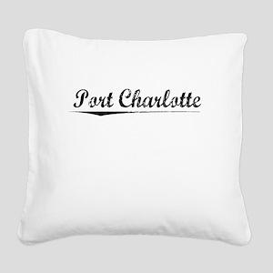 Port Charlotte, Vintage Square Canvas Pillow